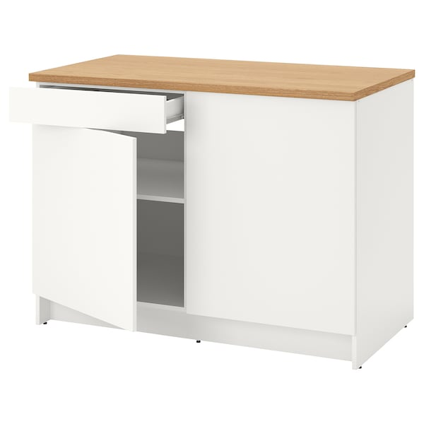 """KNOXHULT Base cabinet with doors and drawer, white, 48x24x36 """""""