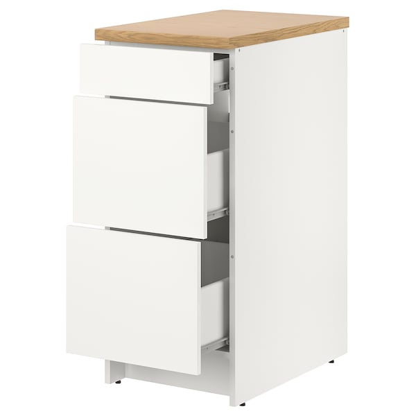 """KNOXHULT Base cabinet with drawers, white, 15x24x36 """""""