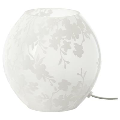 "KNUBBIG Table lamp, cherry-blossoms white, 7 """