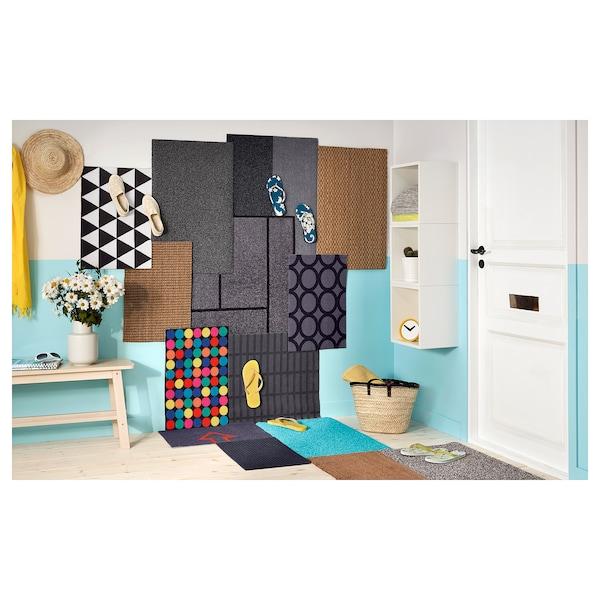 """KÖGE Door mat, gray/black, 2 ' 3 """"x2 ' 11 """""""