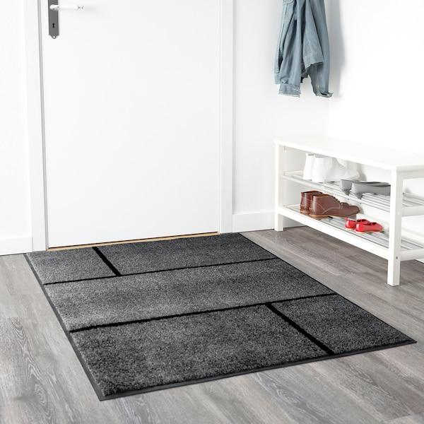"""KÖGE door mat gray/black 5 ' 0 """" 3 ' 4 """" 0 """" 16.68 sq feet 7.67 oz/sq ft 1.64 oz/sq ft 0 """""""