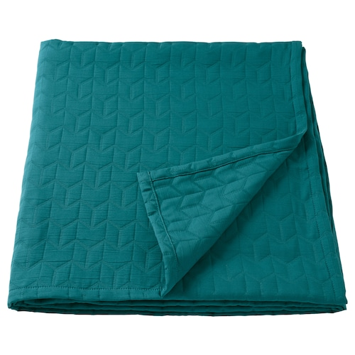 "KÖLAX bedspread dark green 94 "" 94 "" 33 oz"