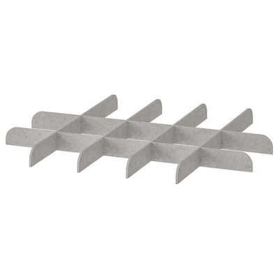 KOMPLEMENT Divider for pull-out tray, light gray, 29 1/2x22 7/8 ""