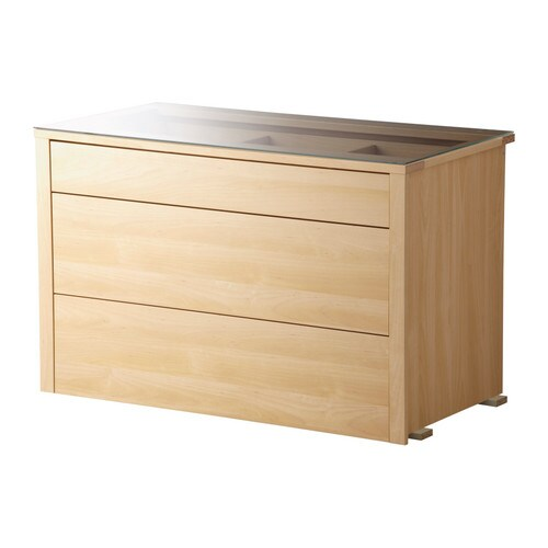 KOMPLEMENT Interior chest of drawers   Top drawer is divided into compartments.   Helps you organize jewelry, ties, undergarments, etc.
