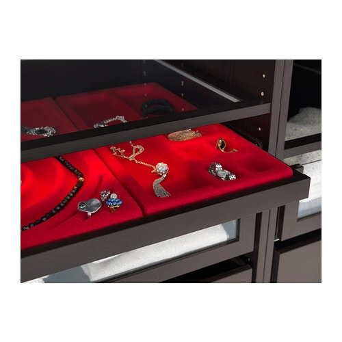 KOMPLEMENT Jewelry insert for pull-out tray   Soft felt protects your accessories and keeps them neatly in place.
