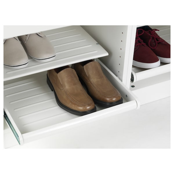 KOMPLEMENT Pull-out shoe shelf, white, 19 5/8x22 7/8 ""