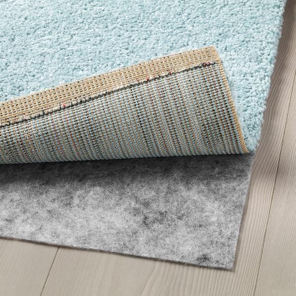 kongstrup rug high pile  light blue green  ikea