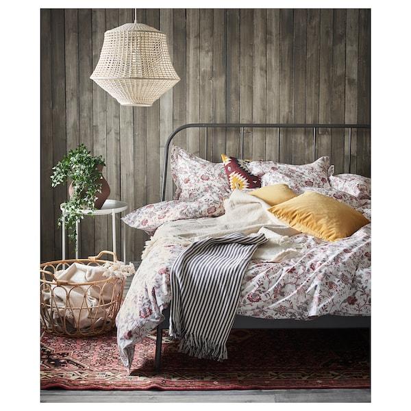 KOPARDAL Bed frame, gray/Luröy, Full/Double
