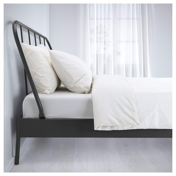 KOPARDAL Bed frame, gray, Full/Double