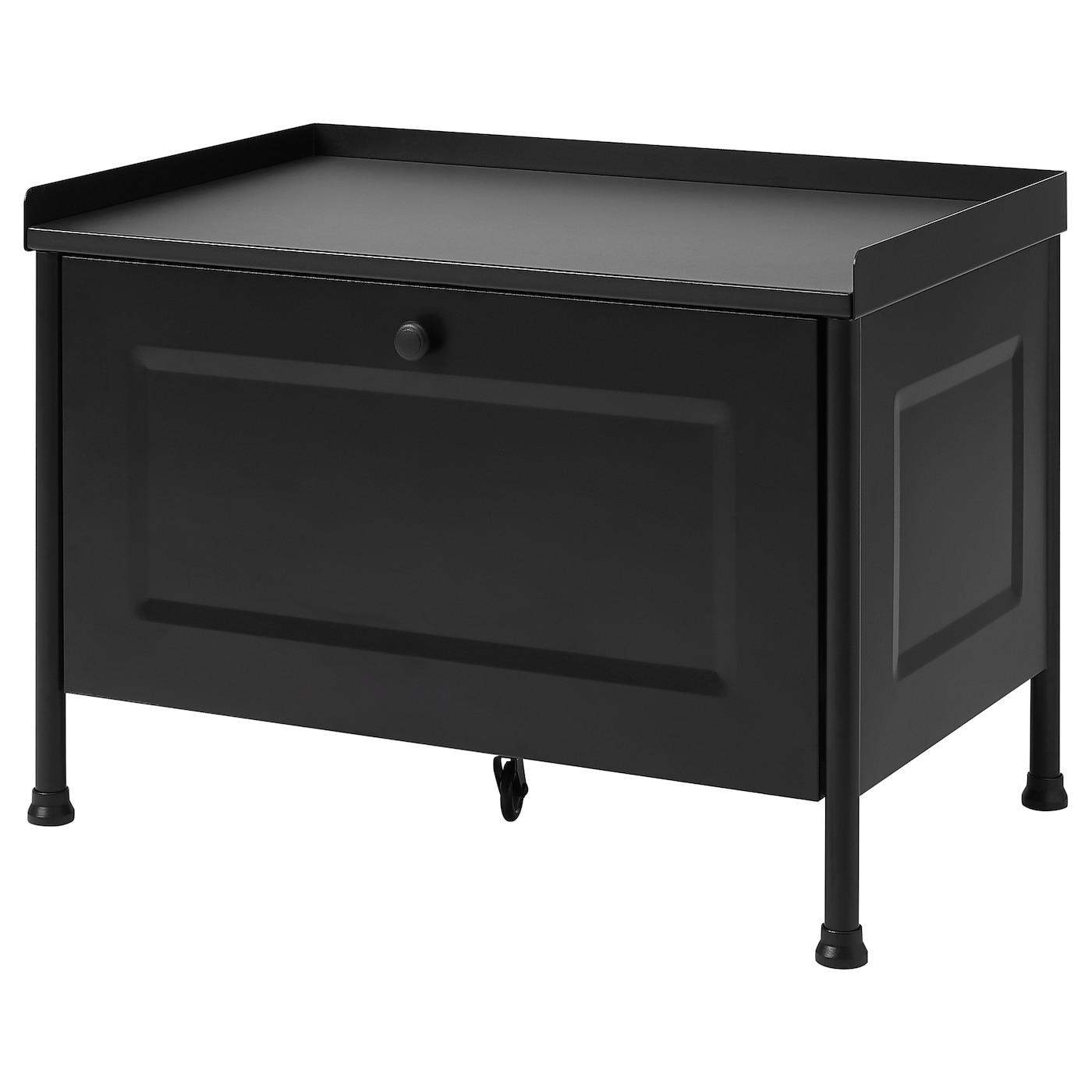 KORNSJÖ Storage bench - black