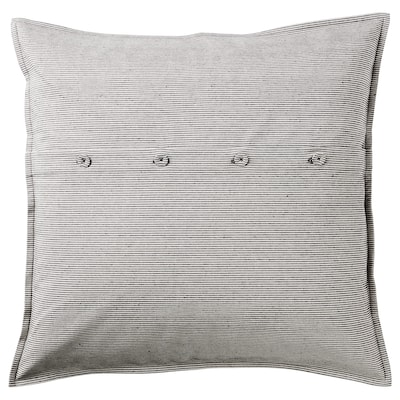 KRISTIANNE Cushion cover, white/dark gray striped, 20x20 ""