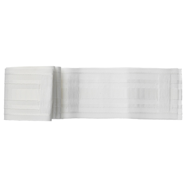 KRONILL Pleating tape, white, 3x122 ""