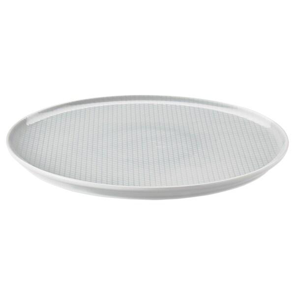 "KRUSTAD Plate, light gray, 10 """