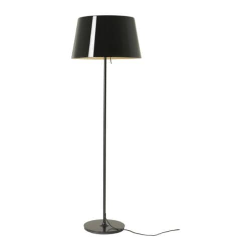 KULLA Floor lamp   Dimmer function allows the light intensity to be adjusted.  Plastic inner casing prevents glare.
