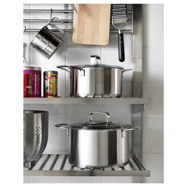 "KUNGSFORS shelf stainless steel 23 5/8 "" 11 3/4 "" 3/4 "" 49 lb"