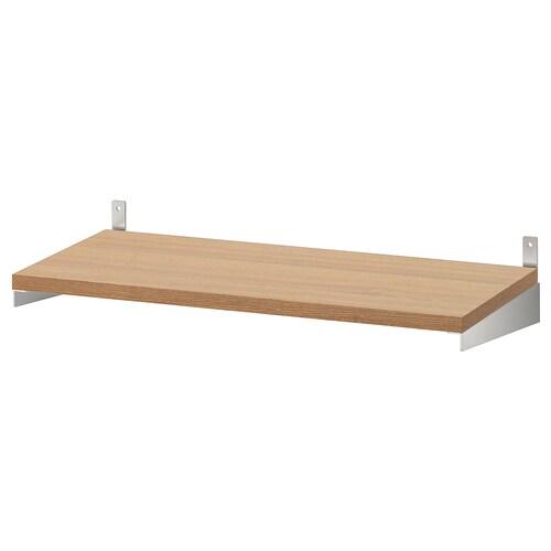 "KUNGSFORS shelf ash veneer 23 5/8 "" 11 3/4 "" 3/4 "" 49 lb"