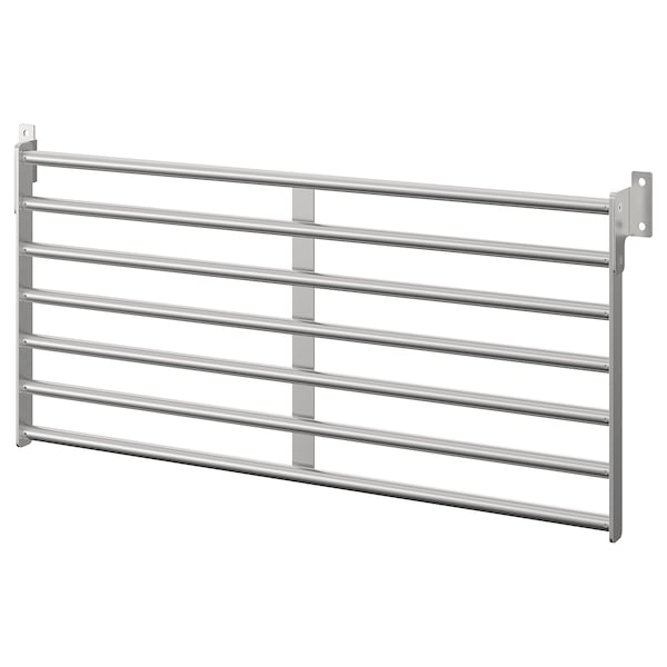 """KUNGSFORS wall rack stainless steel 22 """" 10 ½ """""""
