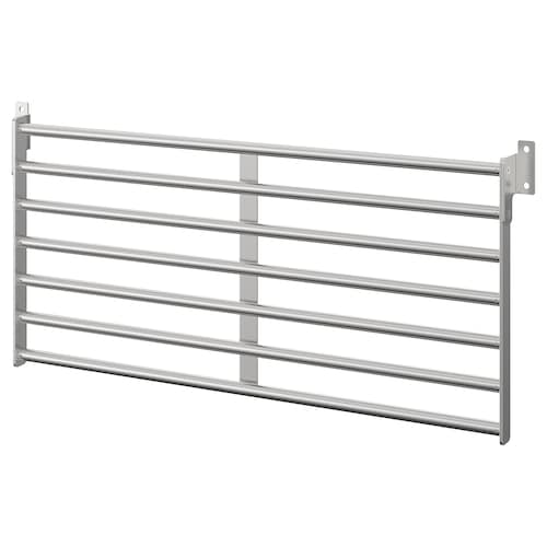 "KUNGSFORS wall rack stainless steel 22 "" 10 ½ """