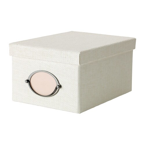 KVARNVIK Box with lid   Suitable for storing your DVDs, games, chargers, remote controls or desk accessories.