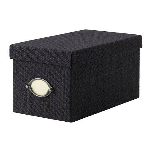 KVARNVIK Box with lid   This box is perfect for storing your CDs, games, chargers or desk accessories.