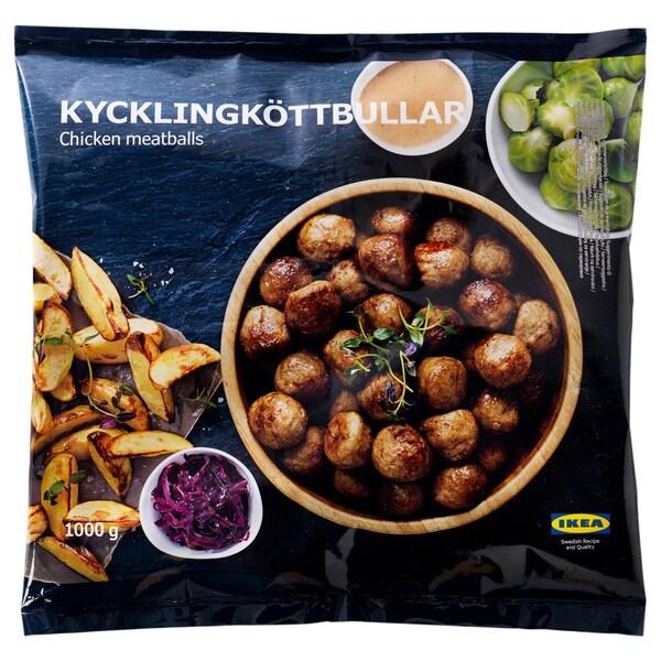 IKEA KYCKLINGKÖTTBULLAR Chicken meatballs, frozen