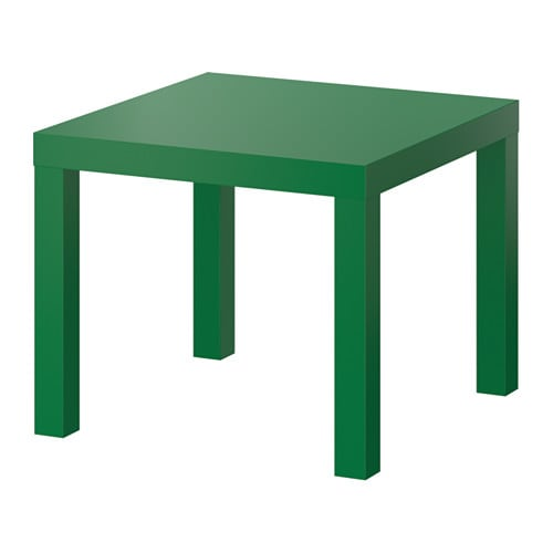Lack side table green ikea for Ikea green side table