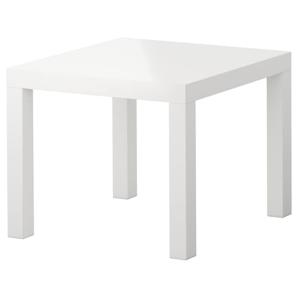 LACK Side table, high gloss white, 21 5/8x21 5/8 ""