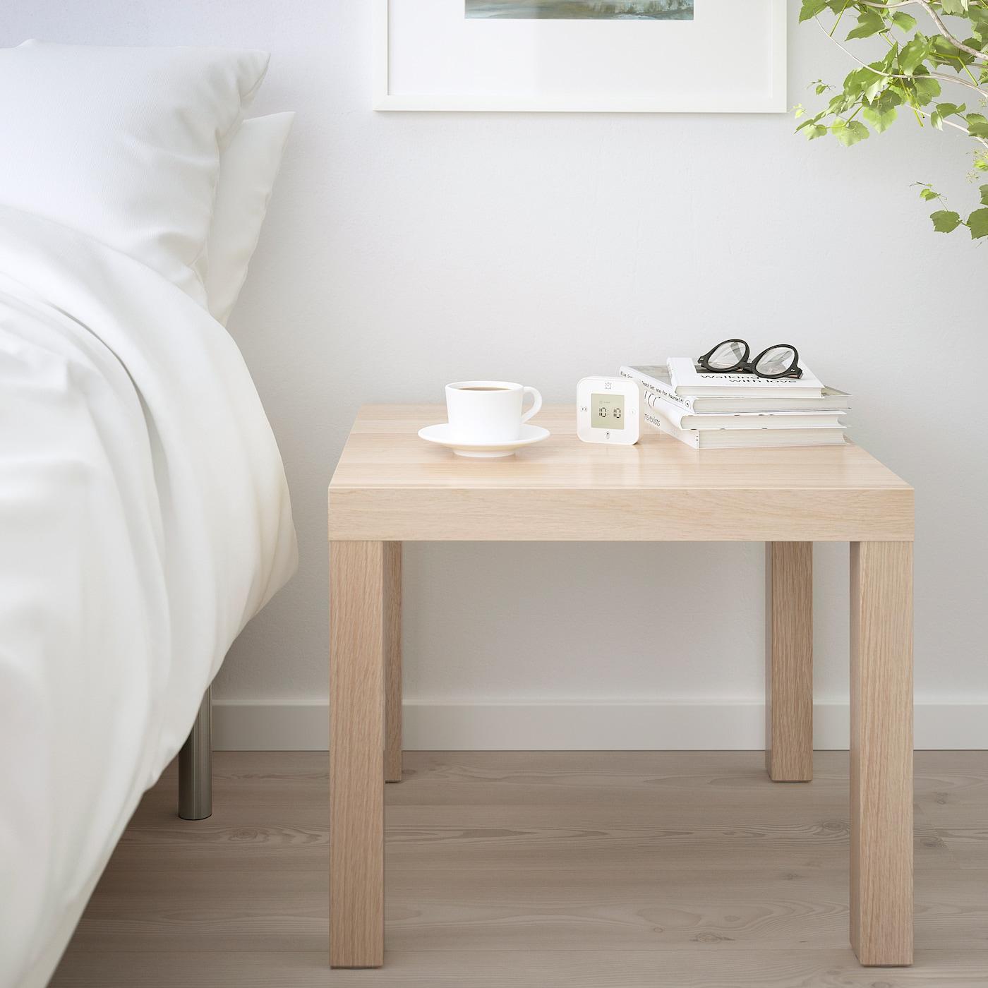 Lack Side Table White Stained Oak Effect 215 8x215 8 55x55 Cm Ikea