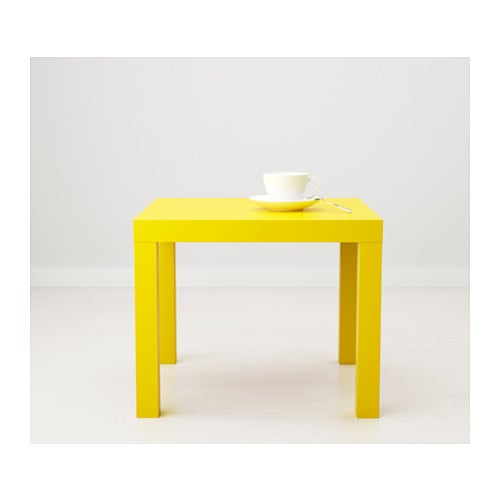 lack side table  yellow  ikea