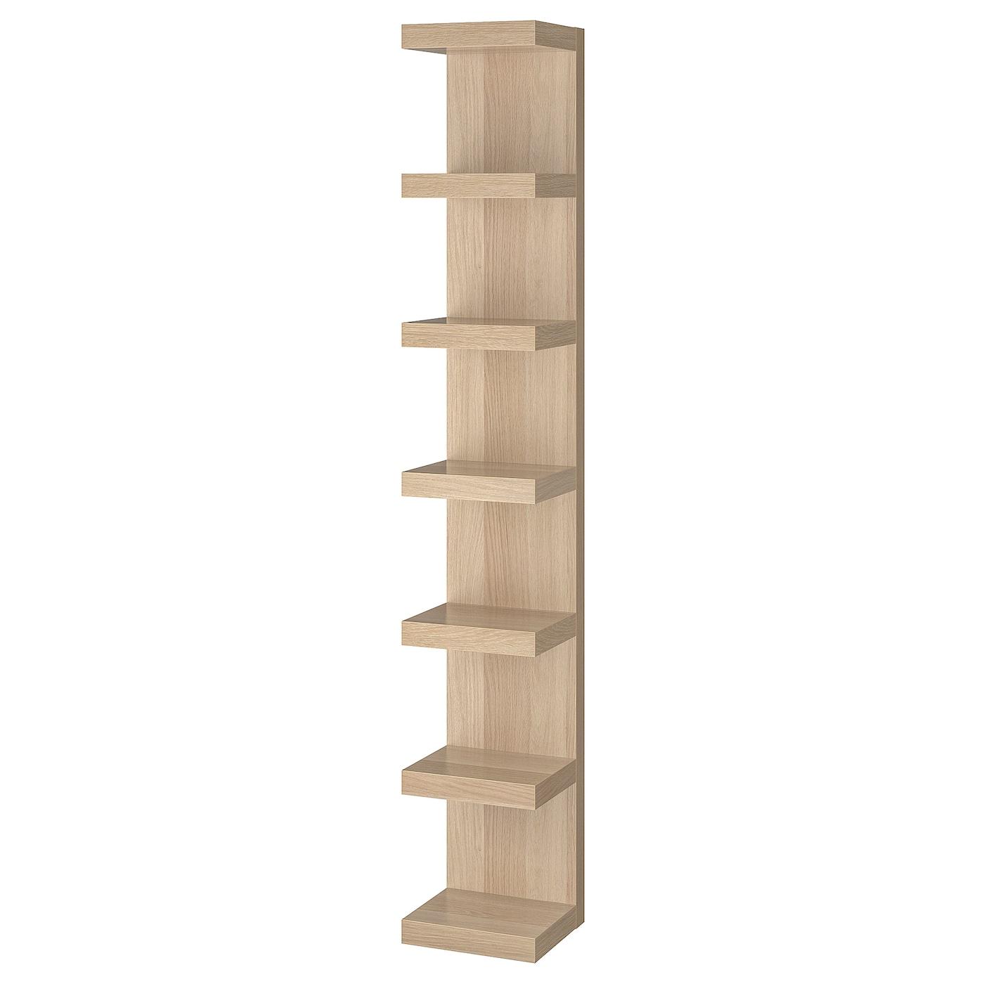 Lack Wall Shelf Unit White Stained Oak Effect