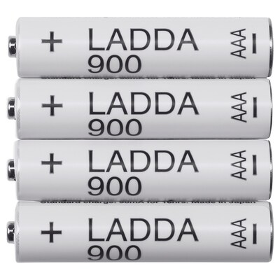 LADDA rechargeable battery 4 pack