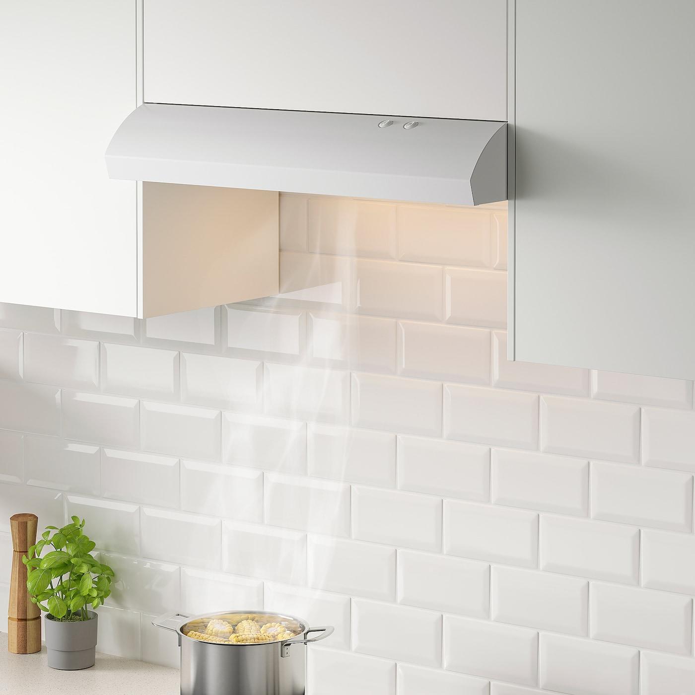 LAGAN Under cabinet range hood - white