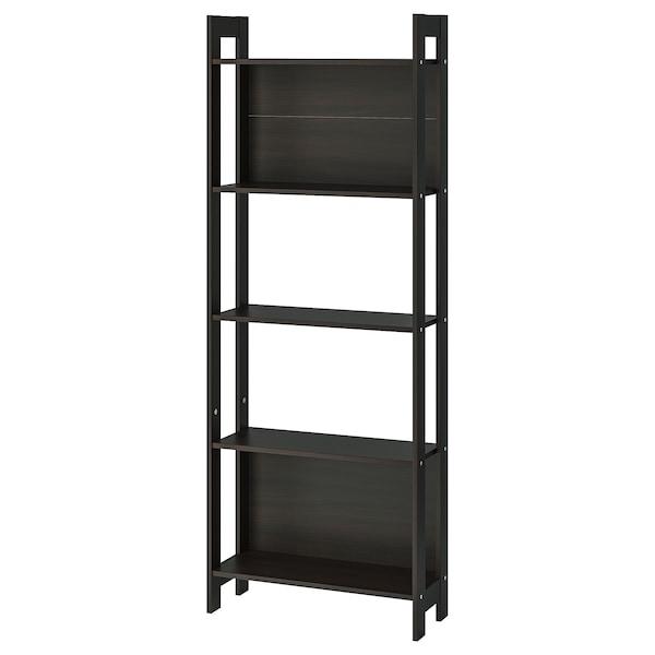 """LAIVA Bookcase, black-brown, 24 3/8x65 """""""