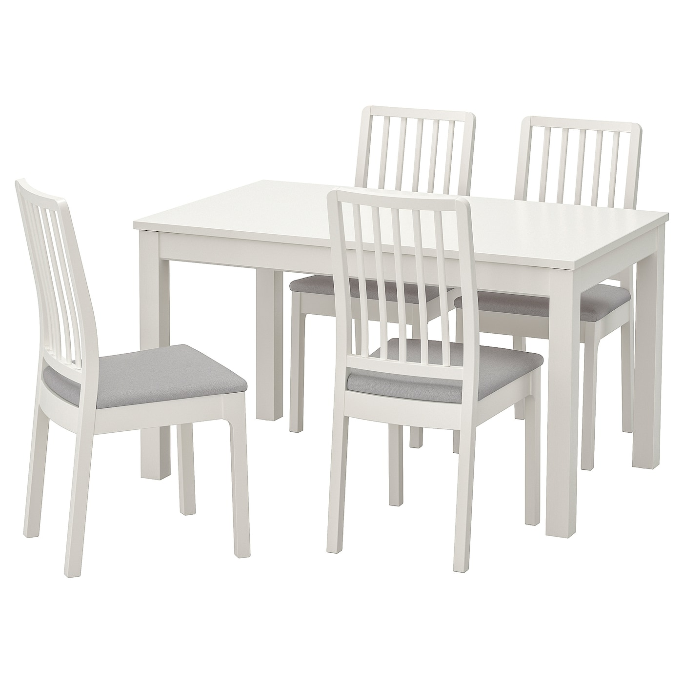 Laneberg Ekedalen Table And 4 Chairs White White Light Gray Ikea