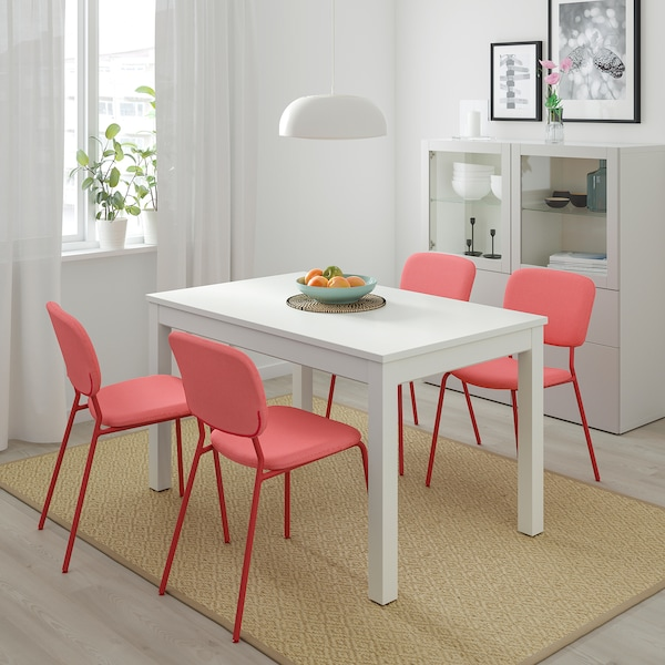 "LANEBERG Extendable table, white, 51 1/8/74 3/4x31 1/2 """