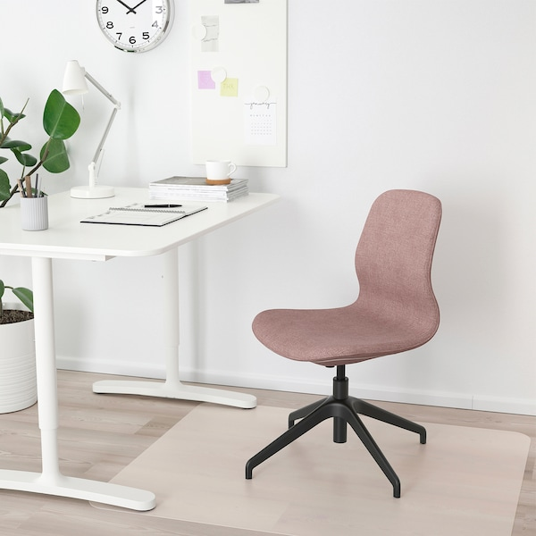 LÅNGFJÄLL Conference chair, Gunnared light brown-pink/black