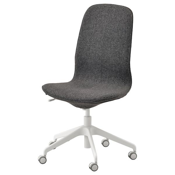 LÅNGFJÄLL Office chair, Gunnared dark gray/white
