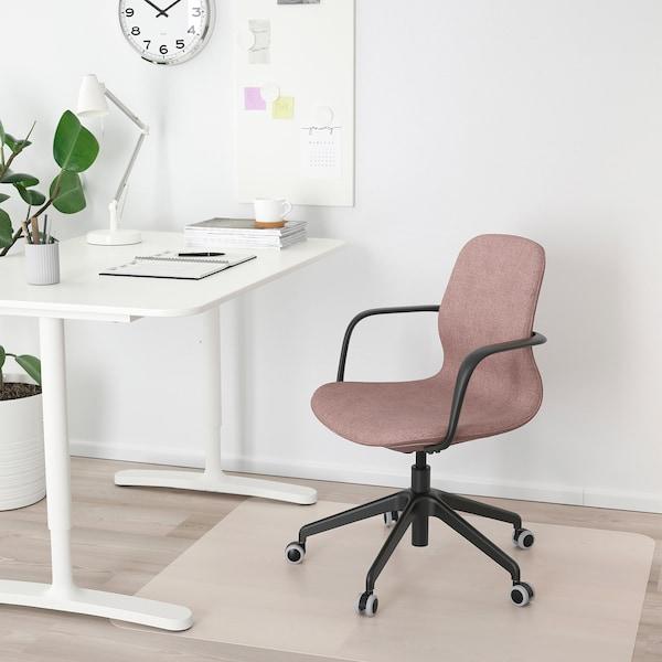 lÅngfjÄll office chair with armrests gunnared light brown