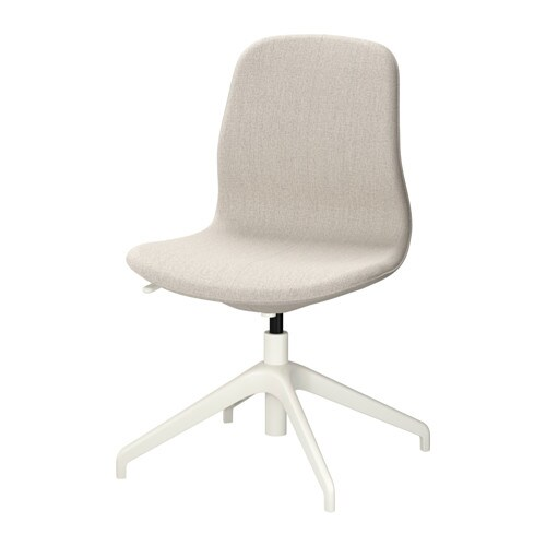 LÅNGFJÄLL Swivel chair Gunnared beige white IKEA