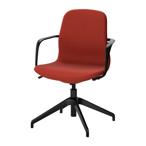l ngfj ll swivel chair gunnared brown red black ikea. Black Bedroom Furniture Sets. Home Design Ideas
