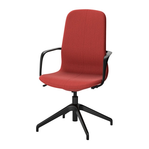 LÅNGFJÄLL Swivel chair Gunnared brown red black IKEA