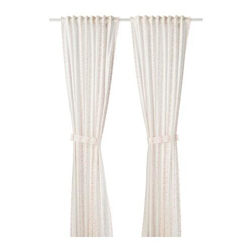LATTJO Curtains With Tie Backs 1 Pair