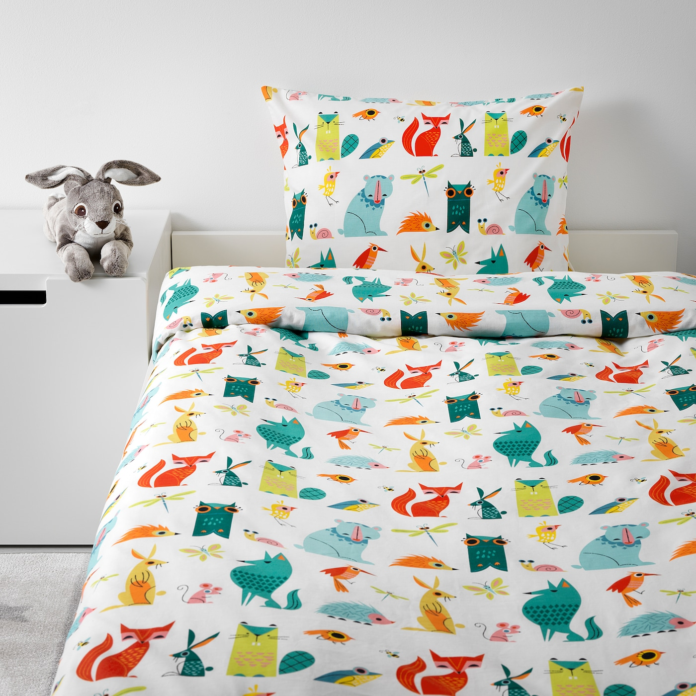 "LATTJO duvet cover and pillowcase(s) animal/multicolor 146 square inches 86 "" 64 "" 20 "" 30 """