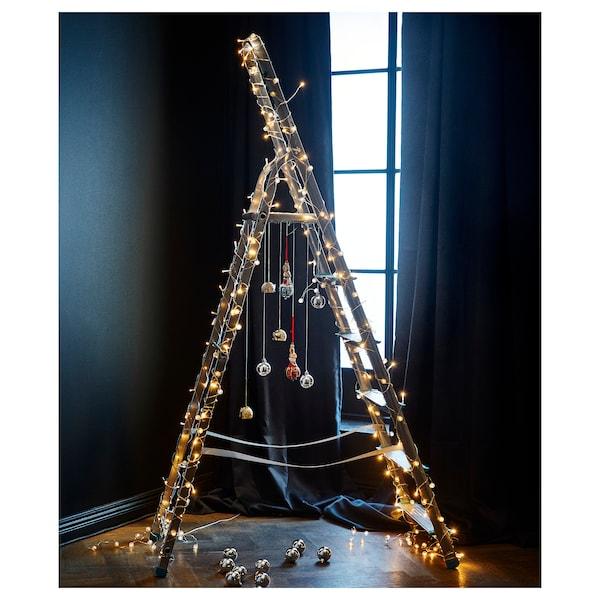 LEDFYR LED string light with 24 lights, indoor silver color