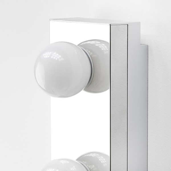 "LEDSJÖ LED wall lamp, stainless steel, 24 """
