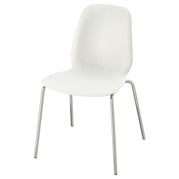 Leifarne Chair White Broringe Chrome Plated Ikea