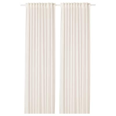 "LEJONGAP Curtains, 1 pair, white, 57x98 """