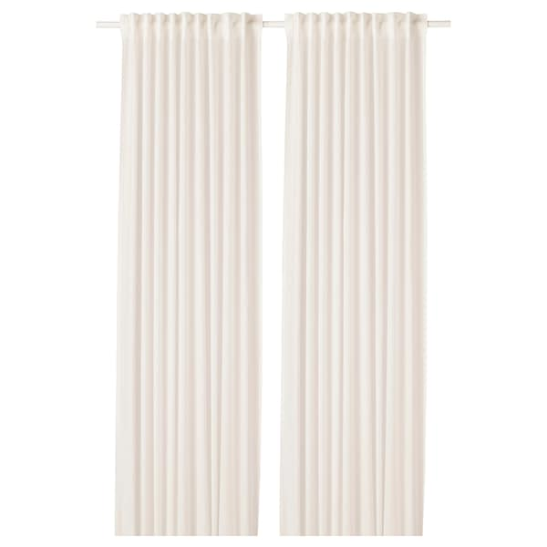 "LEJONGAP curtains, 1 pair white 98 "" 57 "" 2 lb 10 oz 39.07 sq feet 2 pack"
