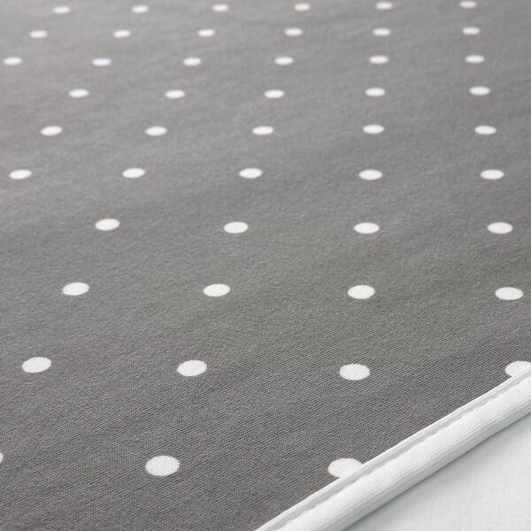 """LEN Babycare mat, dotted/gray, 35 3/8x27 1/2 """""""