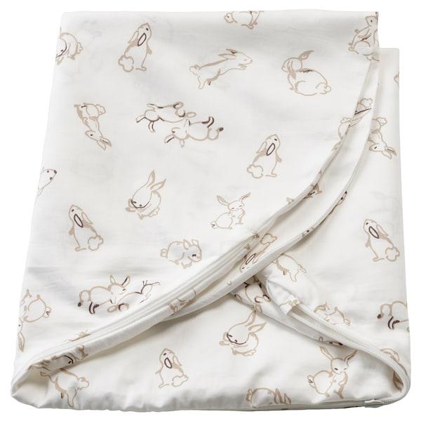 """LEN Cover for nursing pillow, rabbit pattern/white, 23 ½x19 ¾x7 """""""